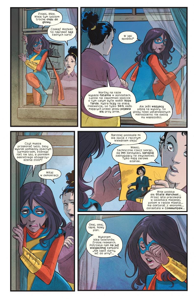 Ms Marvel tom 7 przykładowa strona