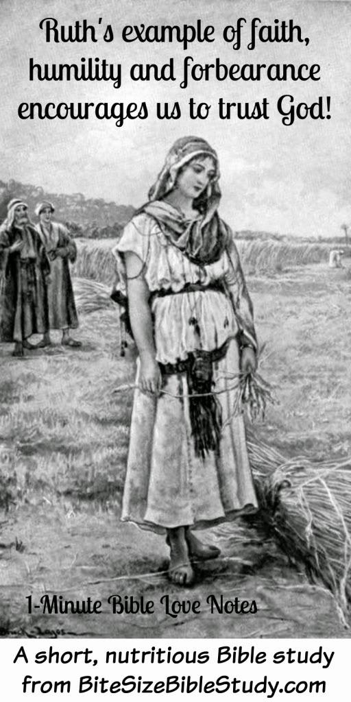 Ruth, forbearance, humility