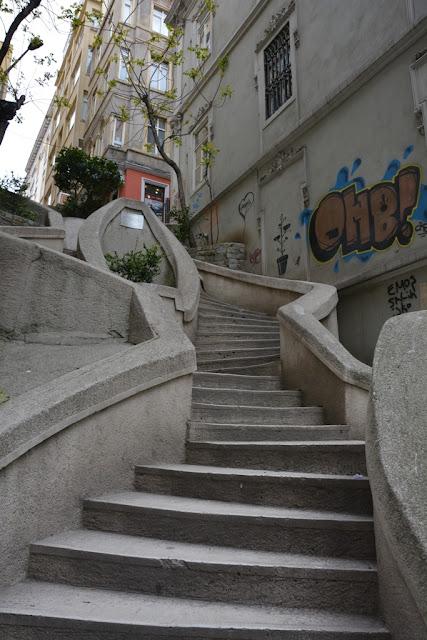 Stair climbing Karakoy