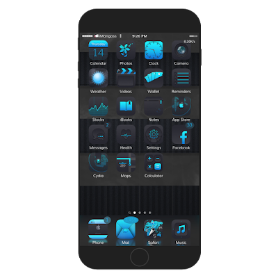 ooTo 9 is the best old style dark classic theme which features 160+ customized Handmage icons, UI images, unique iconomatic, settings icon, custom wallpapers, folder icons, iwidgets and more