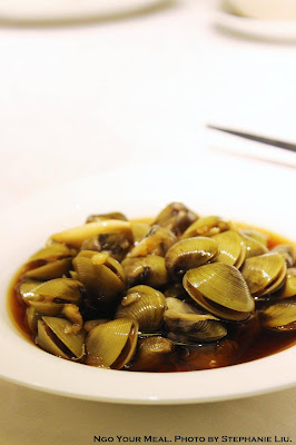 Marinated river clams in garlic soy sauce 蒜香醃蜆仔 at 欣葉 in Taiwan