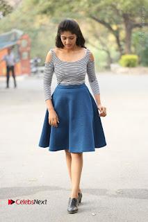 Telugu Actress Roshini Prakash Stills Short Dress at Saptagiri Express Release Press Meet  0271.JPG