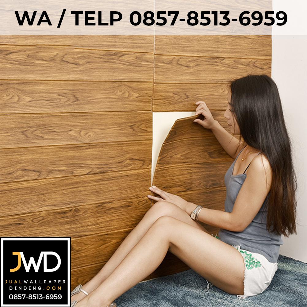Wallpaper 3D Brick Kayu