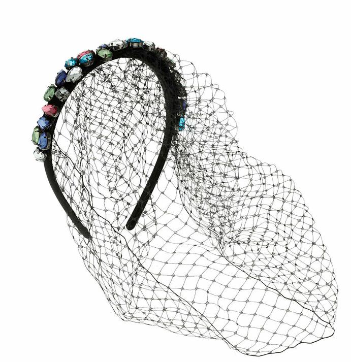 Topshop diadema con redecilla cristales