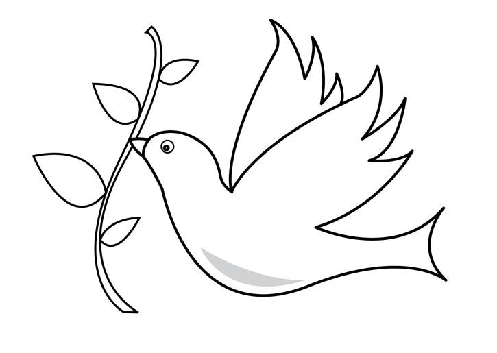 Imágenes Para Colorear Dibujos Del Día De La Paz: Dibujos De Palomas De La Paz Para Colorear