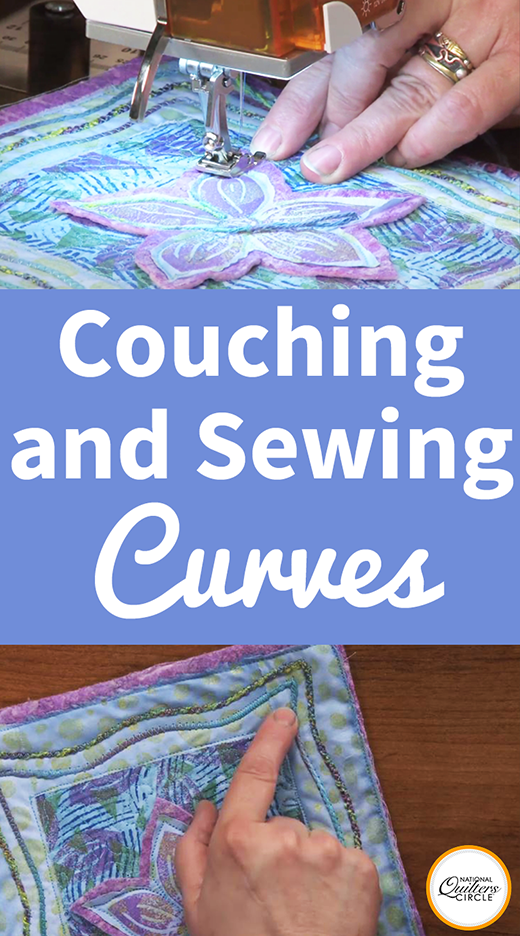 Couching and Sewing Curves