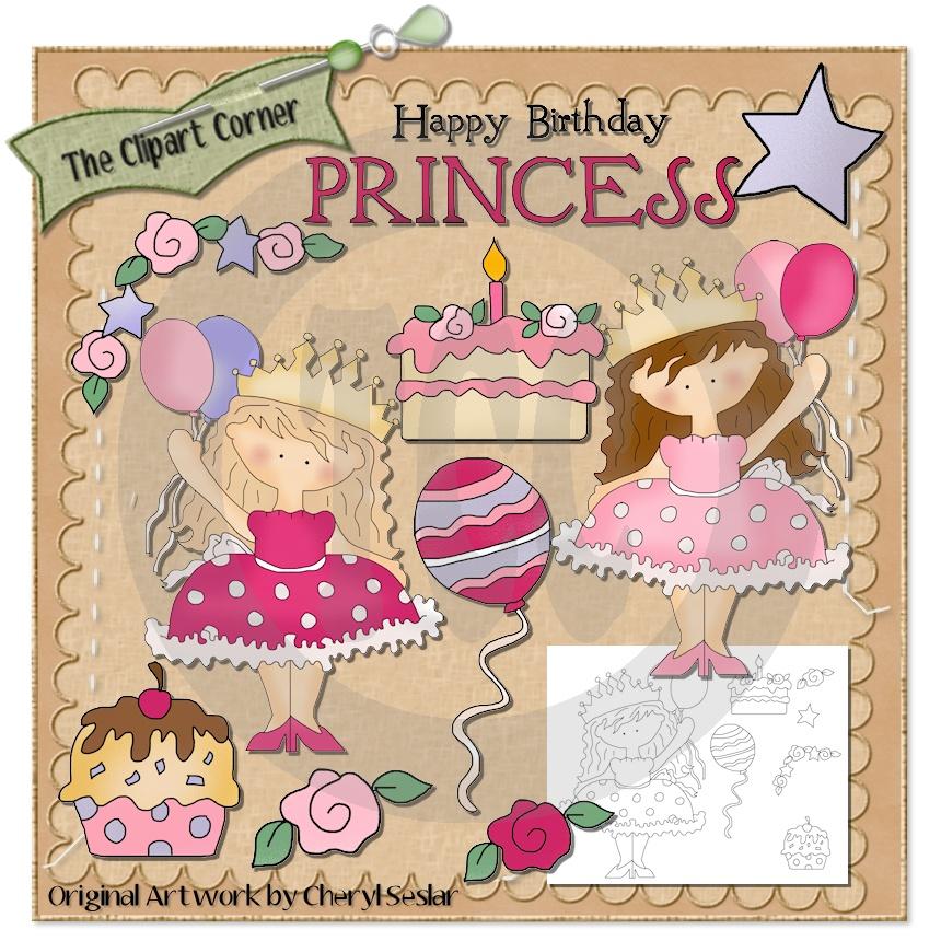 The Clipart Corner: Happy Birthday Princess Clip Art