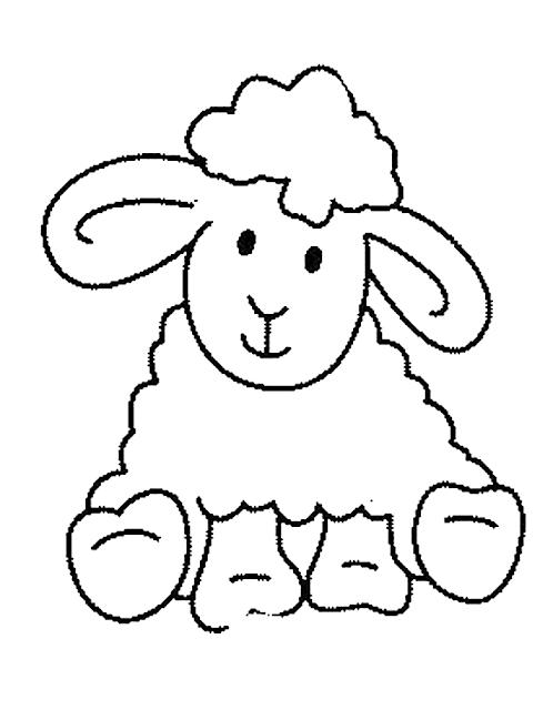 Gambar Mewarnai Domba - 9