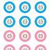 Búhos en Rosa y en Azul: Toppers o Etiquetas para Imprimir Gratis.