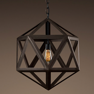 Copy Cat Chic Restoration Hardware Steel Polyhedron Pendant