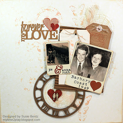 Timeless Love layout with Quick Quotes