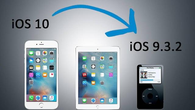 كيفية الرجوع من الاصدار IOS 10 الى IOS 9.3.2 بدون حذف اي شيئ من جهازك