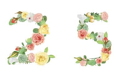 A floral number 25