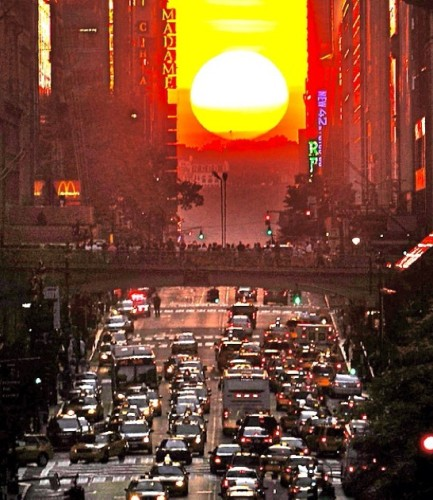 Manhattanhenge 2016 Sunset Images Manhattan Solstice Full Sun New York Best View HD Photos