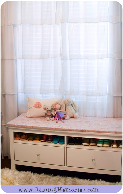 Baby or Toddler Girl Bedroom Shoe Storage