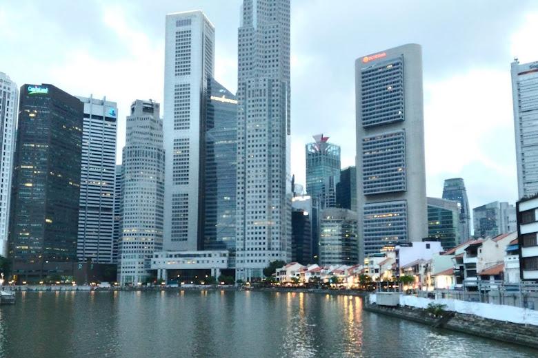 新加坡湖畔區市景