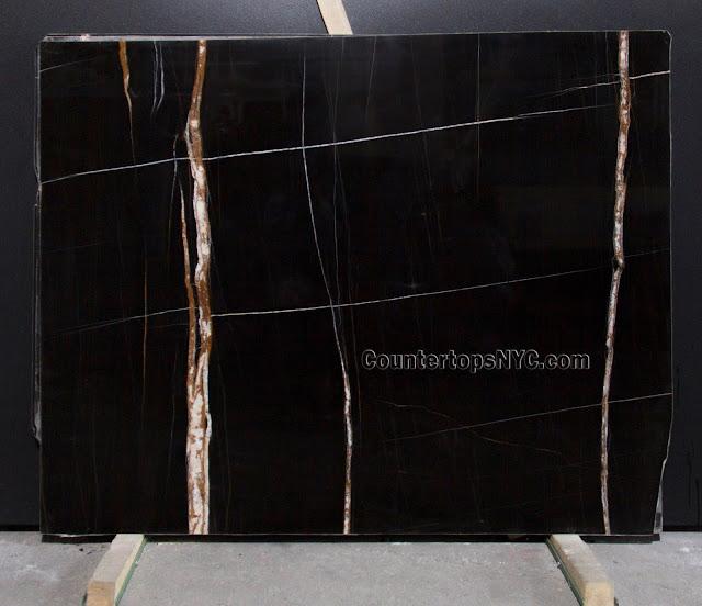 Sahara Noir Black Marble Slab NYC 2cm