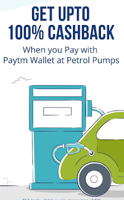 Paytm Petrol Pump Offer - Get 100% Cashback At Petrol Pump