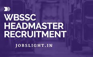 WBSSC Headmaster Recruitment