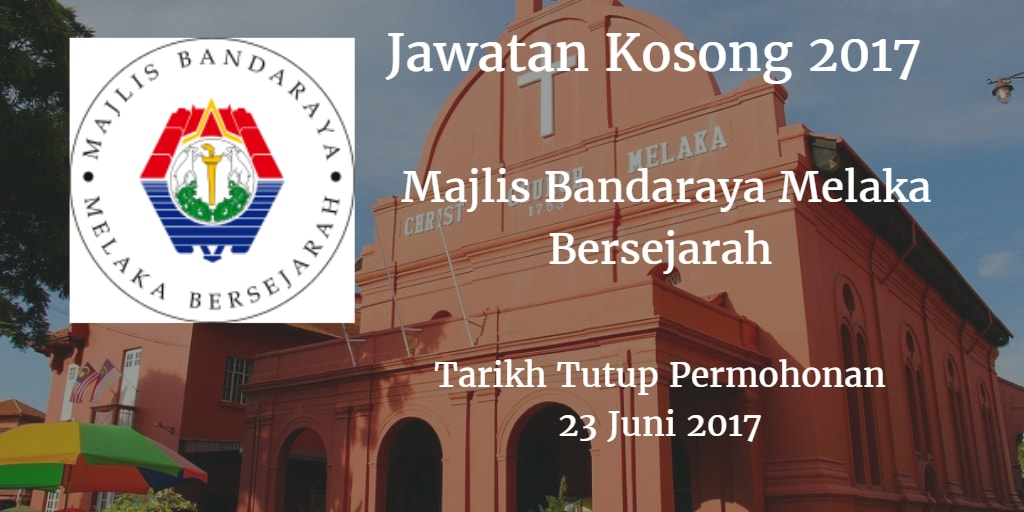 Jawatan Kosong MBMB 23 Juni 2017