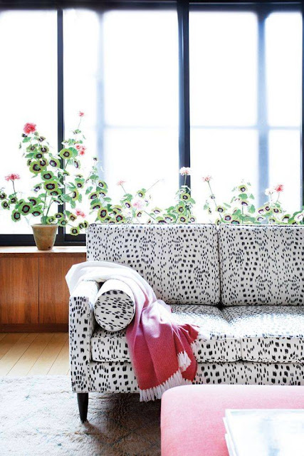 Sofa in home of Artist and stylemaker Kate Schelter