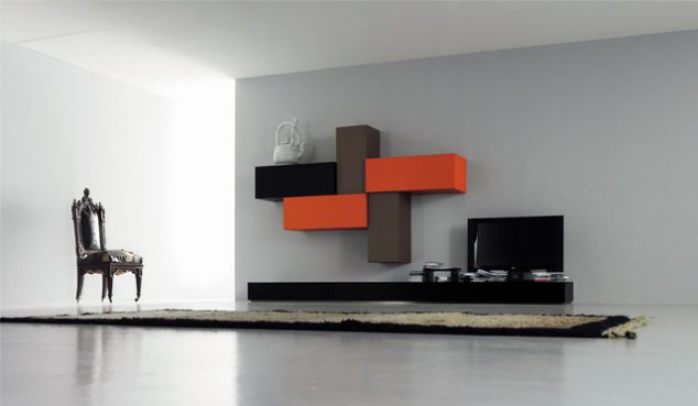 Tv wall unit decoration you need to check home interior for Italian modern living room designs
