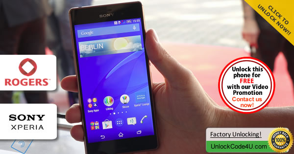 Factory Unlock Code Sony Xperia Z3 from Rogers