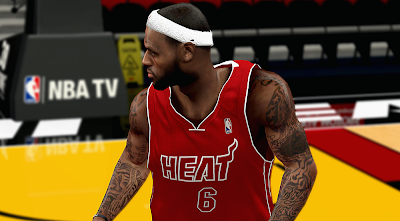 NBA 2K14 Miami Heat Red Alternate Jersey
