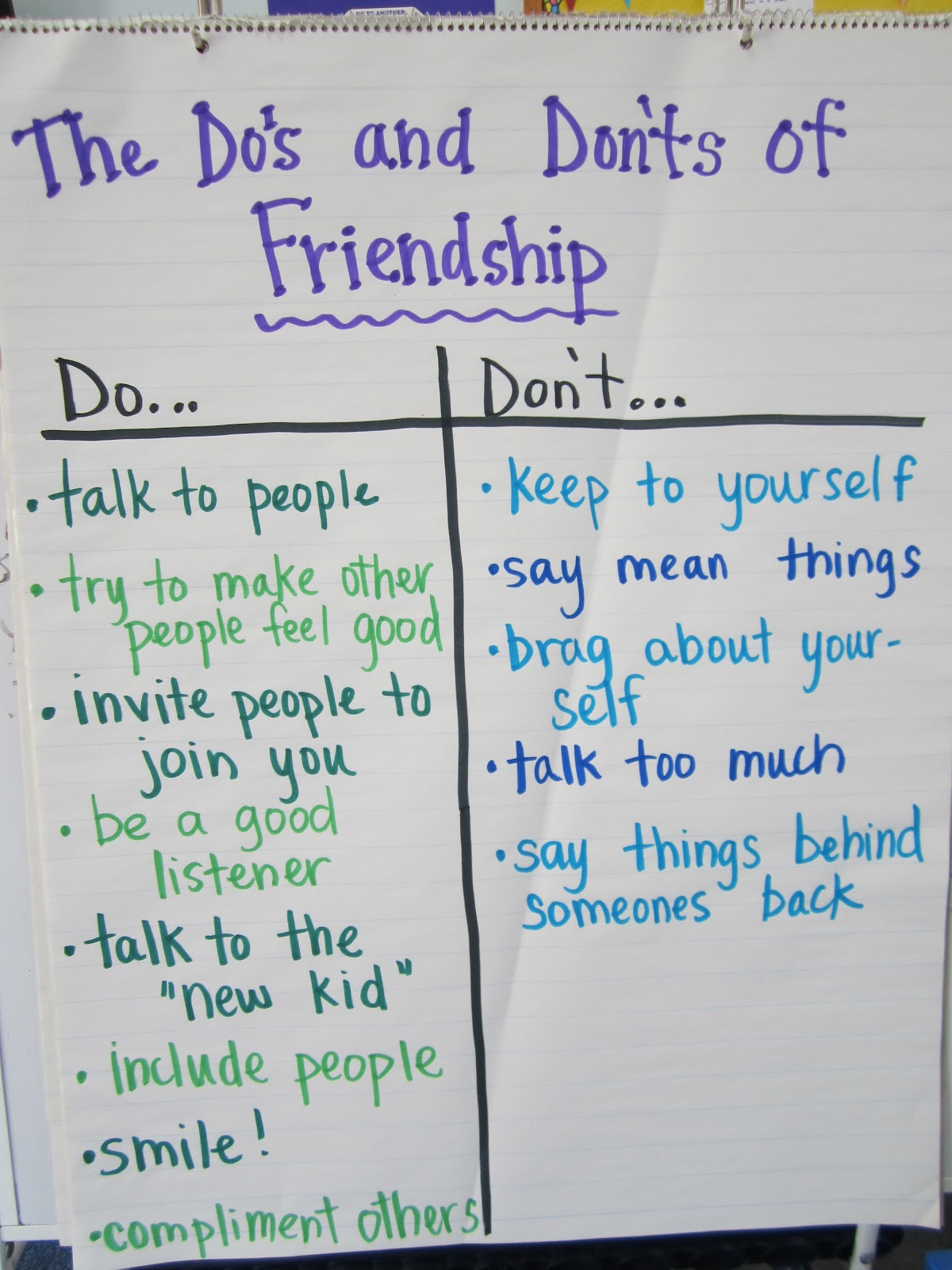 Miss Rorey S Room The Do S And Don Ts Of Making Friends
