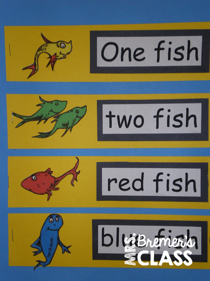 Mrs bremer 39 s class one fish two fish dr seuss art for for One fish two fish