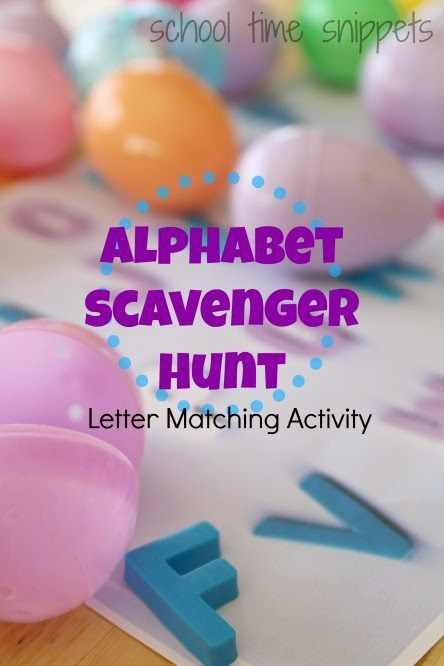 alphabet scavenger hunt with easter eggs