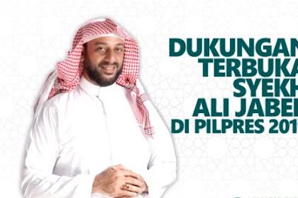 Dukungan Terbuka Syeikh Ali Jaber di Pilpres 2019 untuk Prabowo-Sandi