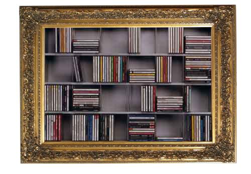 Libreria cornice barocca porta cd design myartistic - Mobile porta cd ...