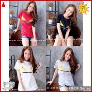 OFDF052 Atasan Kaos Fendy Zipper Tshirt 111 BMGShop