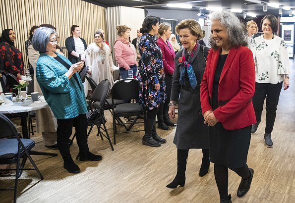 Queen Sonja attended an International Women's Day event at MIRA Center