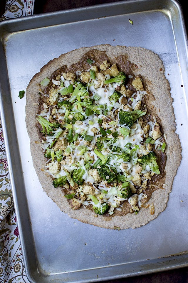 No-rise Spelt Pizza with Thai Tofu Topping
