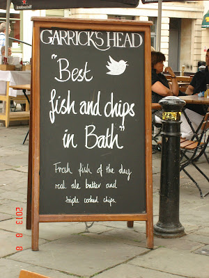 Best Fish and Chips in Bath at Garrick's Head Pub