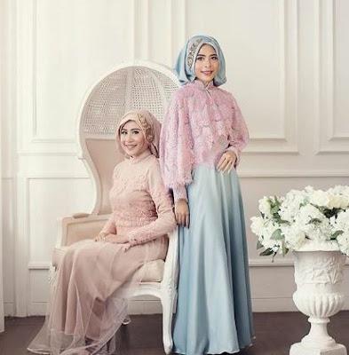 Foto baju pesta muslimah modern