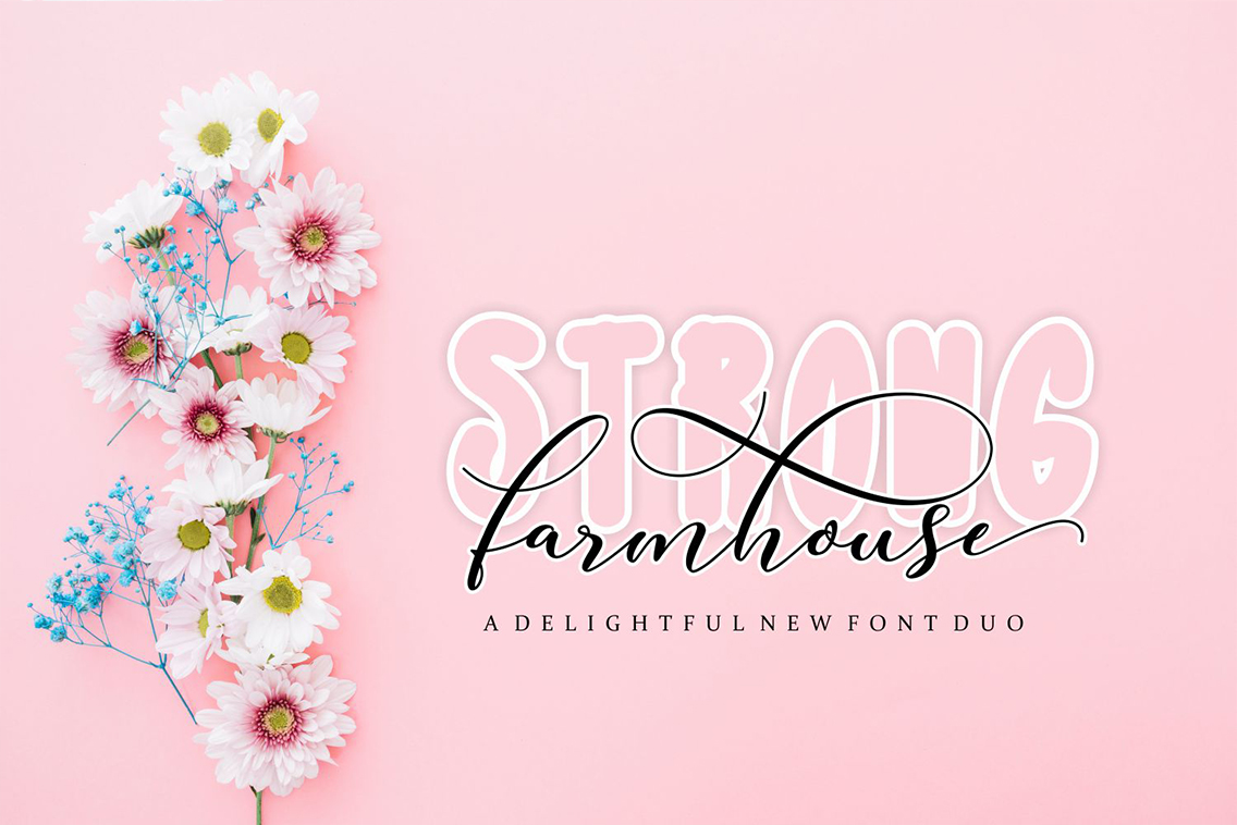 Strong Farmhouse Script Layer Font Free Download - Free Script Fonts