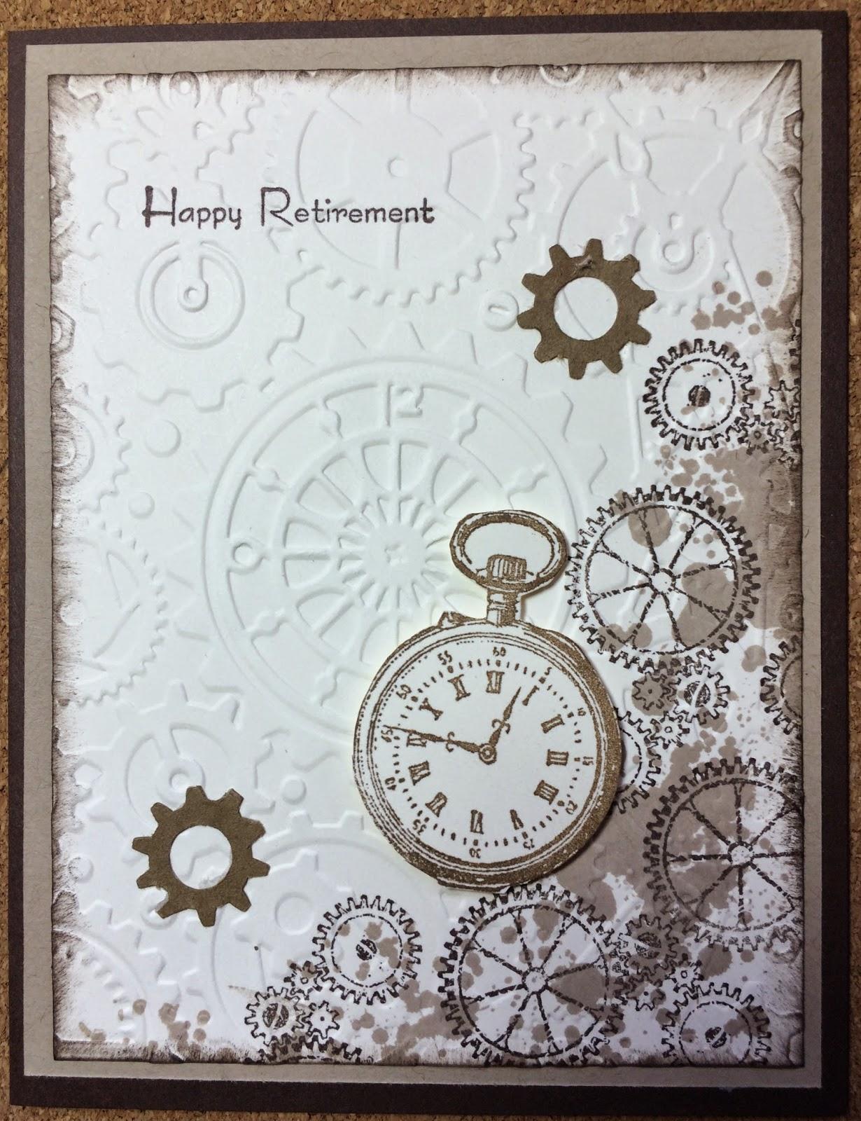 Handmade retirement tri-fold card | Retirement cards, Tri ... |Handmade Retirement Cards