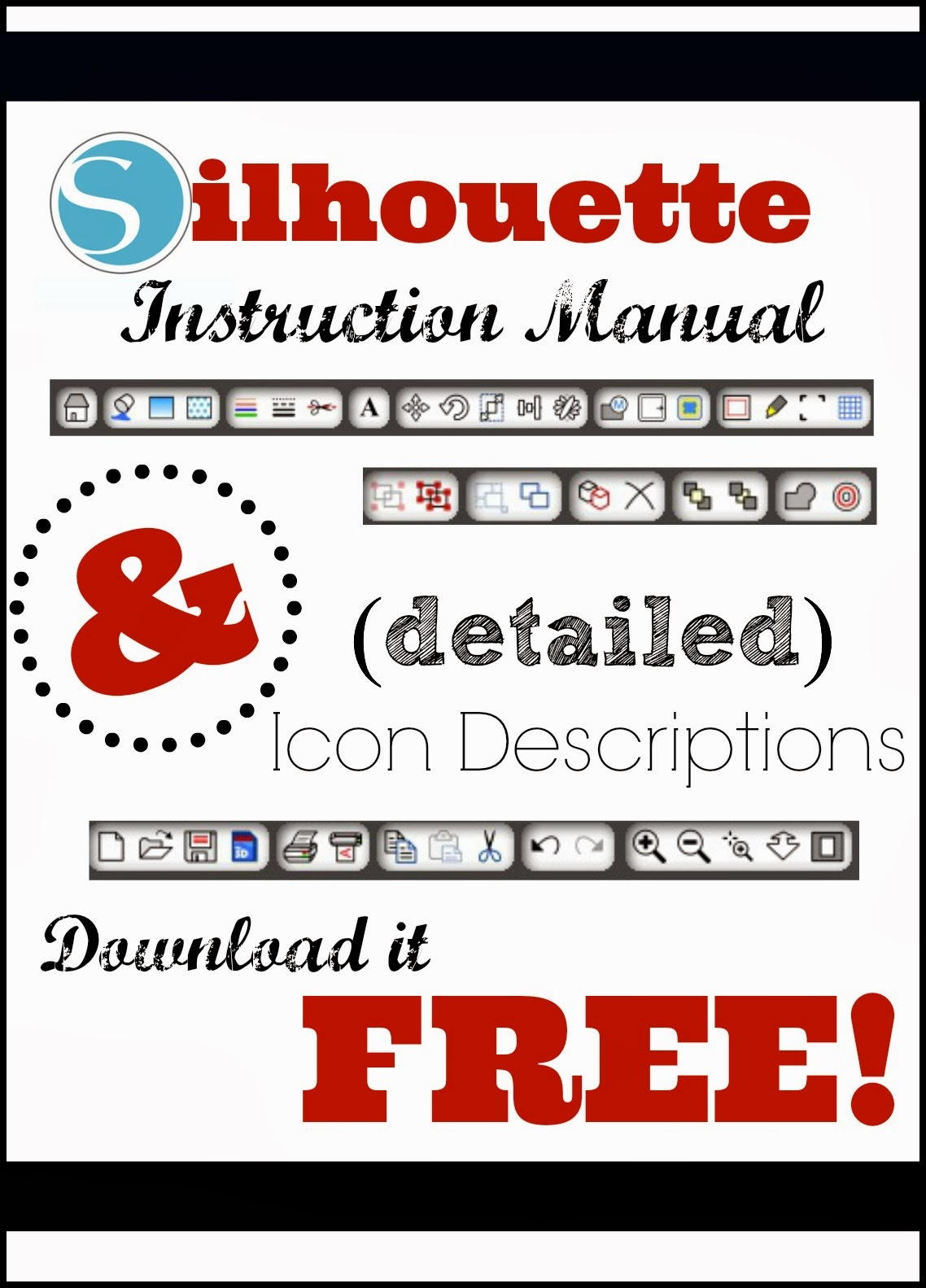 Silhouette, instruction manual, Silhouette Studio, tool descriptions