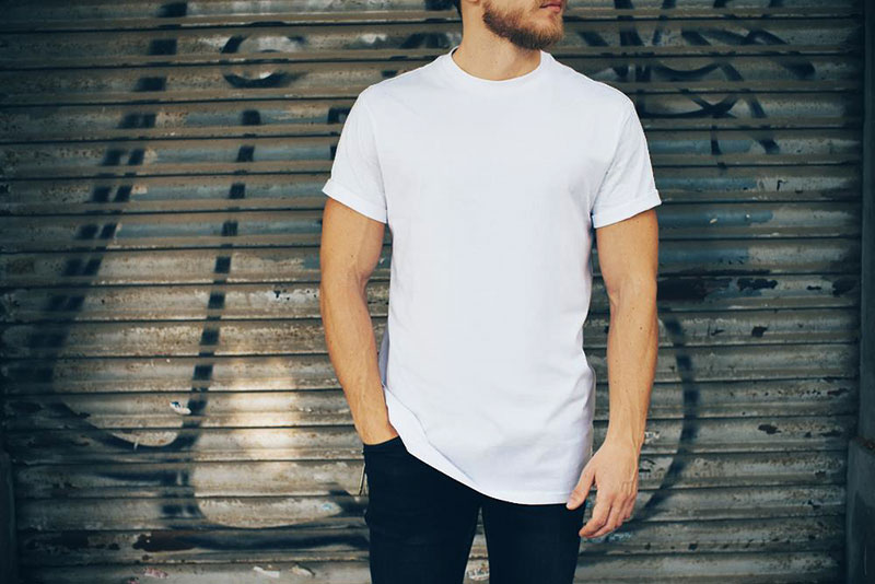 Realistic White T-shirt Mockup PSD
