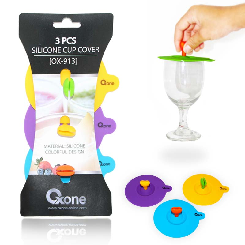OX-913 Oxone 3Pcs Silicone Cup Cover