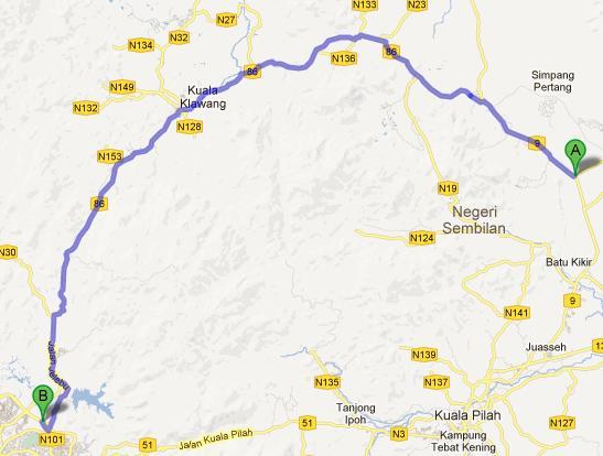 FELCRA Air Hitam - Lebuhraya Kajang Seremban via Route 86