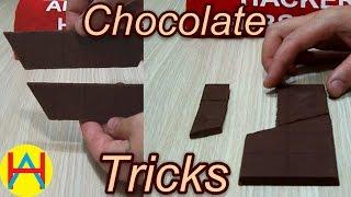 2 візуальні трюки з плиткою шоколаду