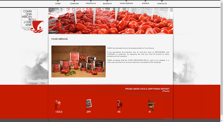 Picture to Italian food exporter company named Compagnia Mercantile Doltremare Srl