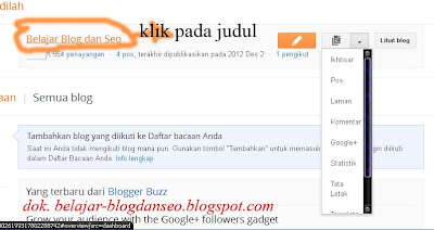 cara edit setelan blog di blogger