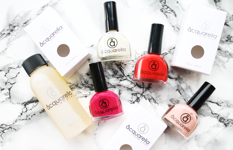 Acquarella Water Based Nail Polishes - Review & Swatches