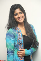 Megha Akash in a beautiful Anarkali dress with Long Jacket at LIE success meet ~  Exclusive Celebrities Galleries 002.JPG