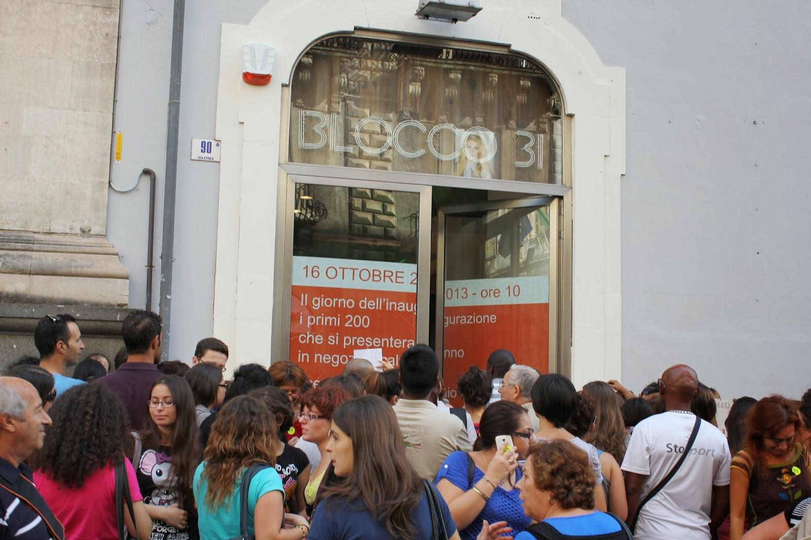 Blocco 31 apre a Catania..e regala le scarpe Glamourday